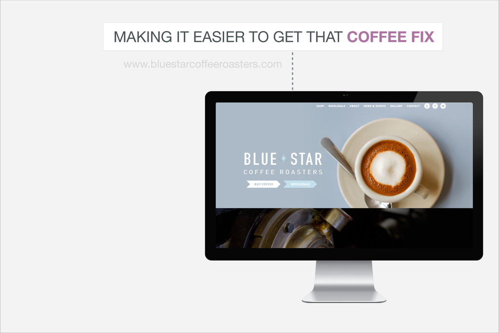 MAKING IT EASIER TO GET THAT COFFEE FIX www.blu...