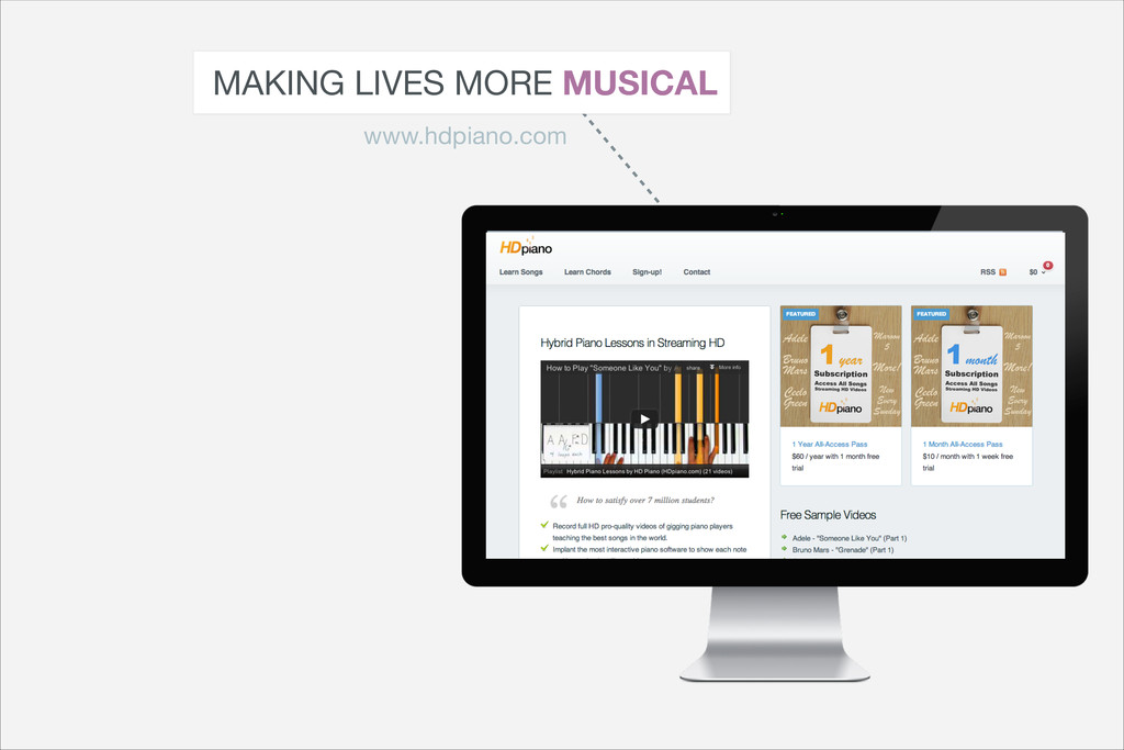 MAKING LIVES MORE MUSICAL www.hdpiano.com