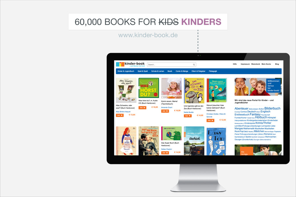 60,000 BOOKS FOR KIDS KINDERS www.kinder-book.de