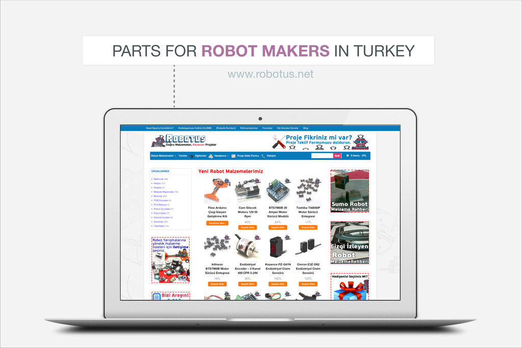 PARTS FOR ROBOT MAKERS IN TURKEY www.robotus.net