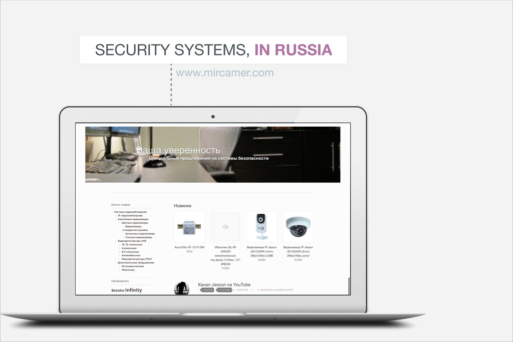 SECURITY SYSTEMS, IN RUSSIA www.mircamer.com