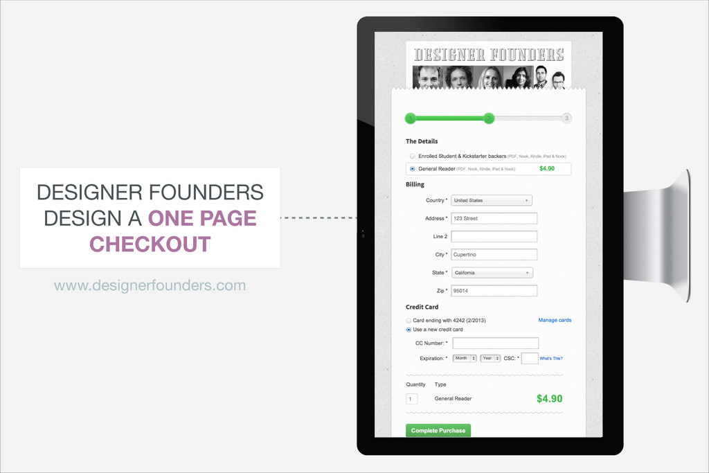DESIGNER FOUNDERS  DESIGN A ONE PAGE CHECKOUT w...
