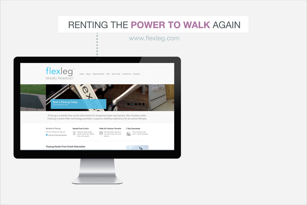 RENTING THE POWER TO WALK AGAIN www.flexleg.com