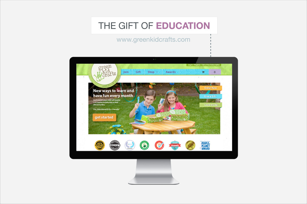 THE GIFT OF EDUCATION www.greenkidcrafts.com