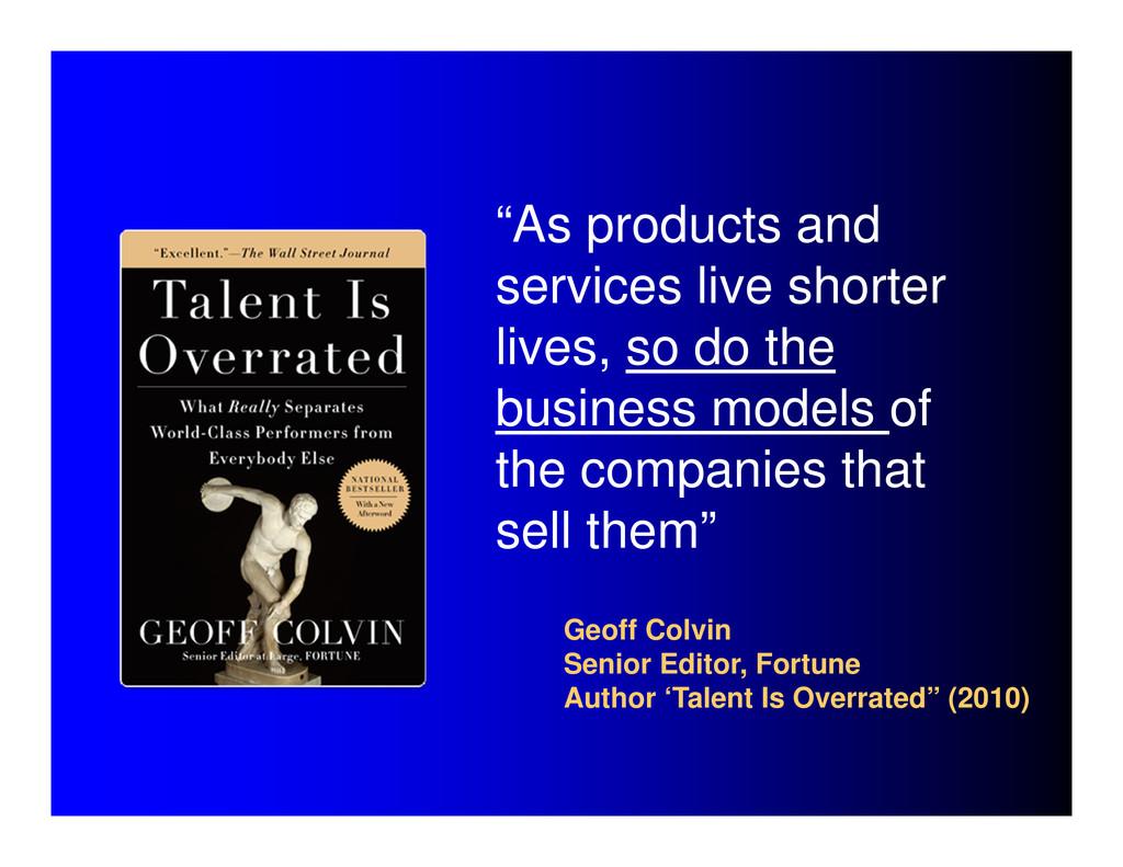 Geoff Colvin Senior Editor, Fortune Author 'Tal...