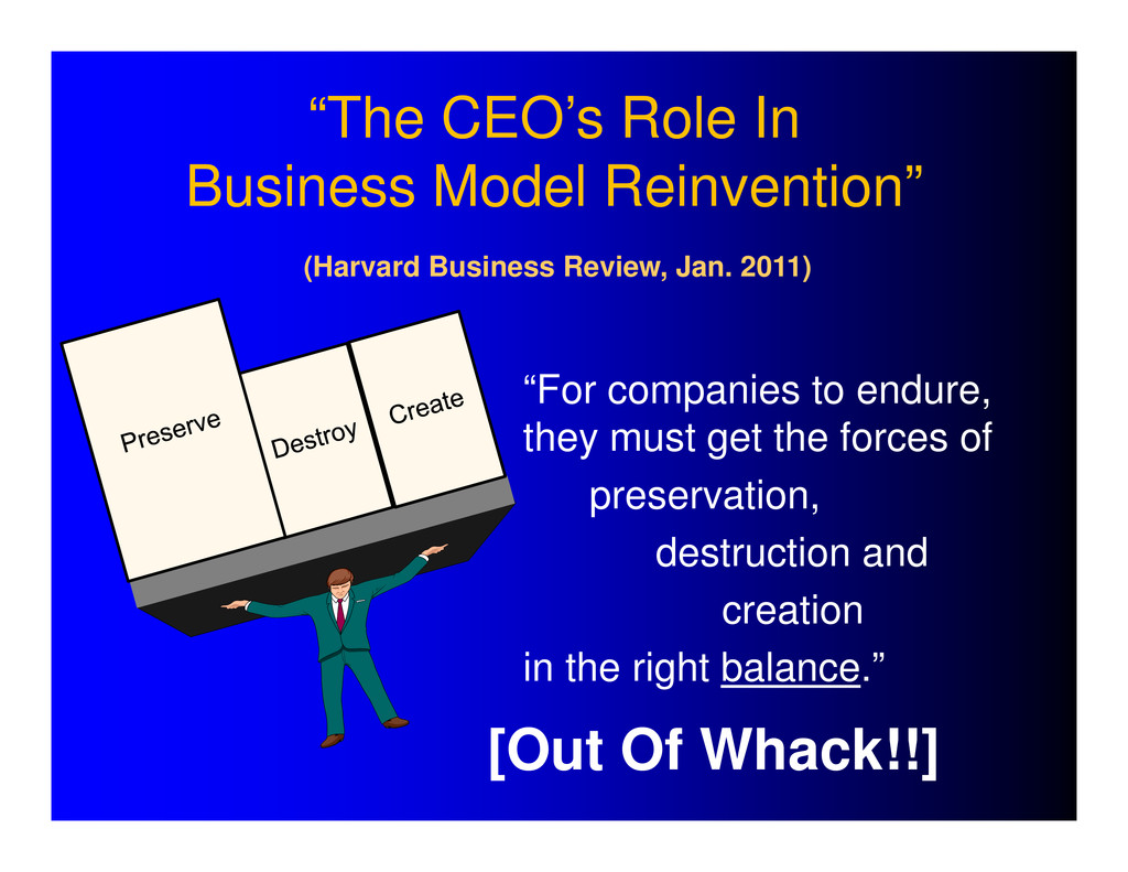 """""""The CEO's Role In Business Model Reinvention"""" ..."""