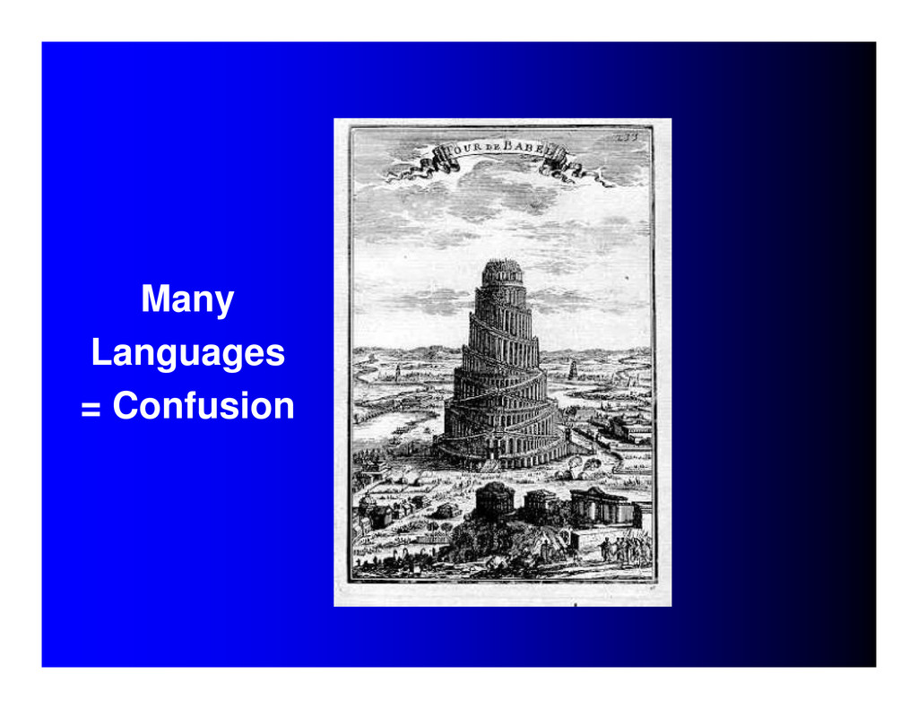 Many Languages = Confusion