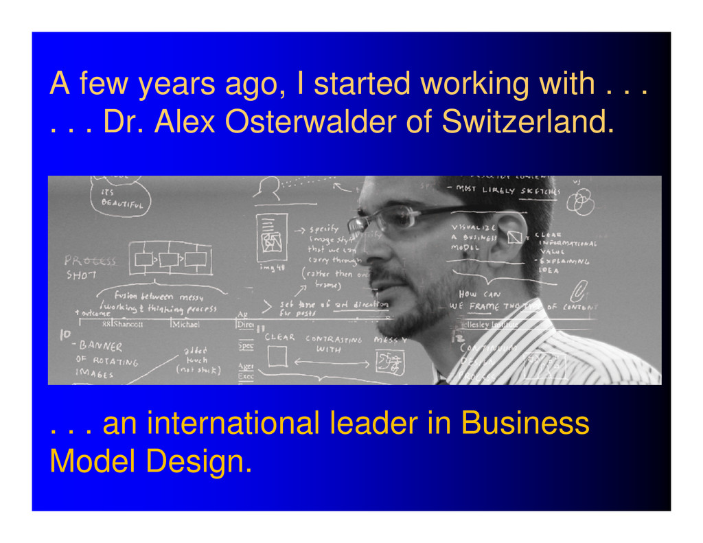 A few years ago, I started working with . . . ....