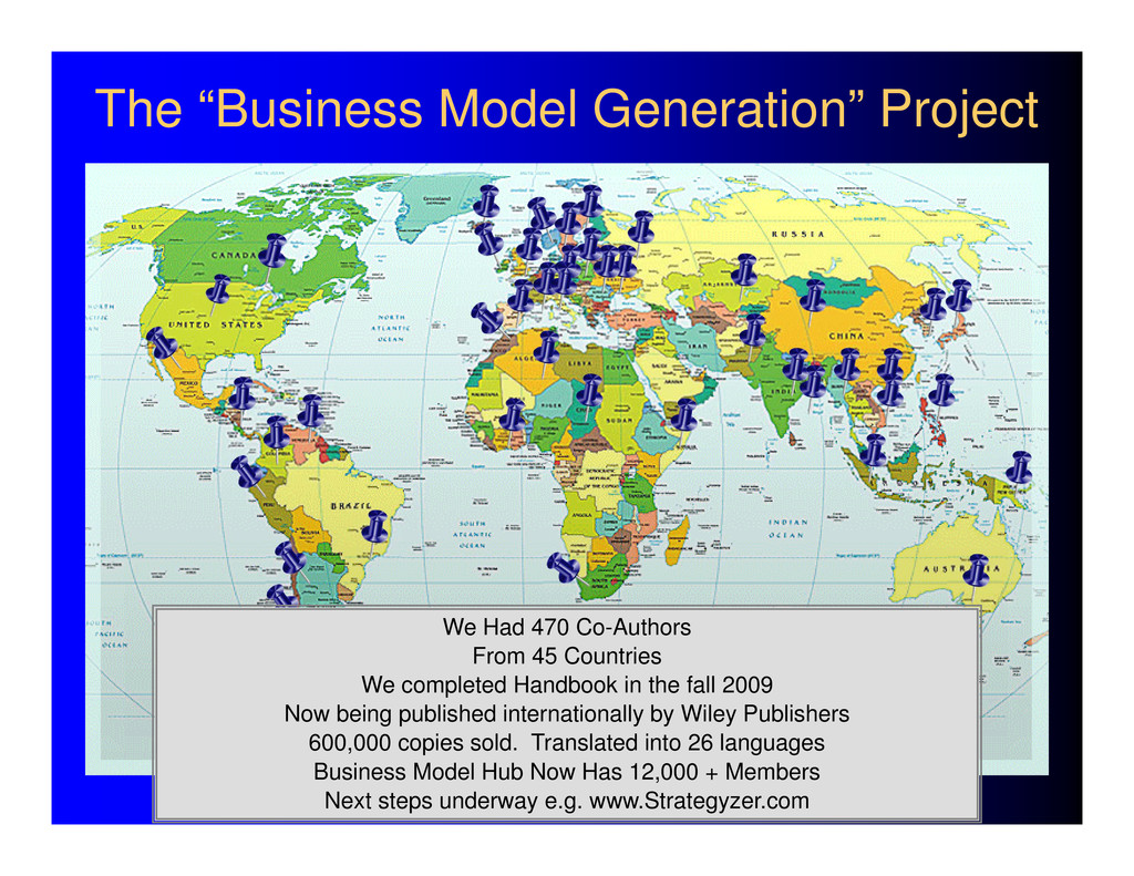 """The """"Business Model Generation"""" Project We Had ..."""