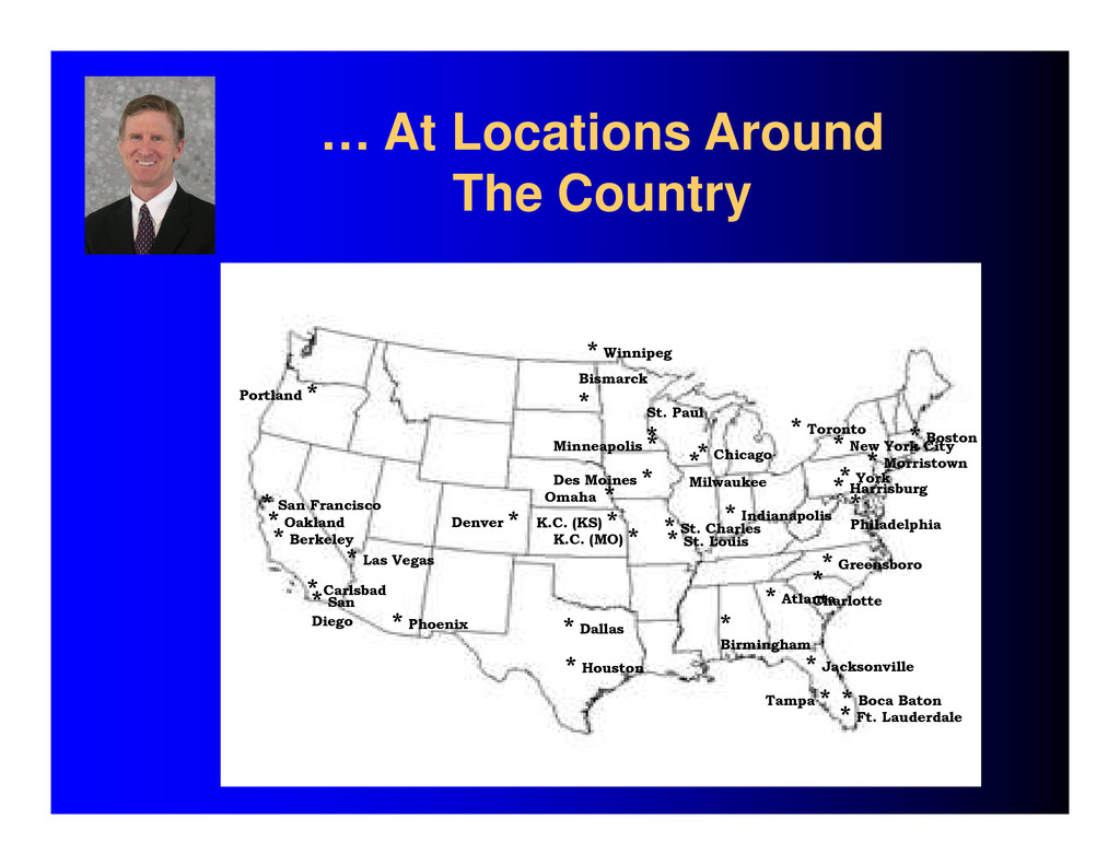 … At Locations Around The Country * Houston * S...