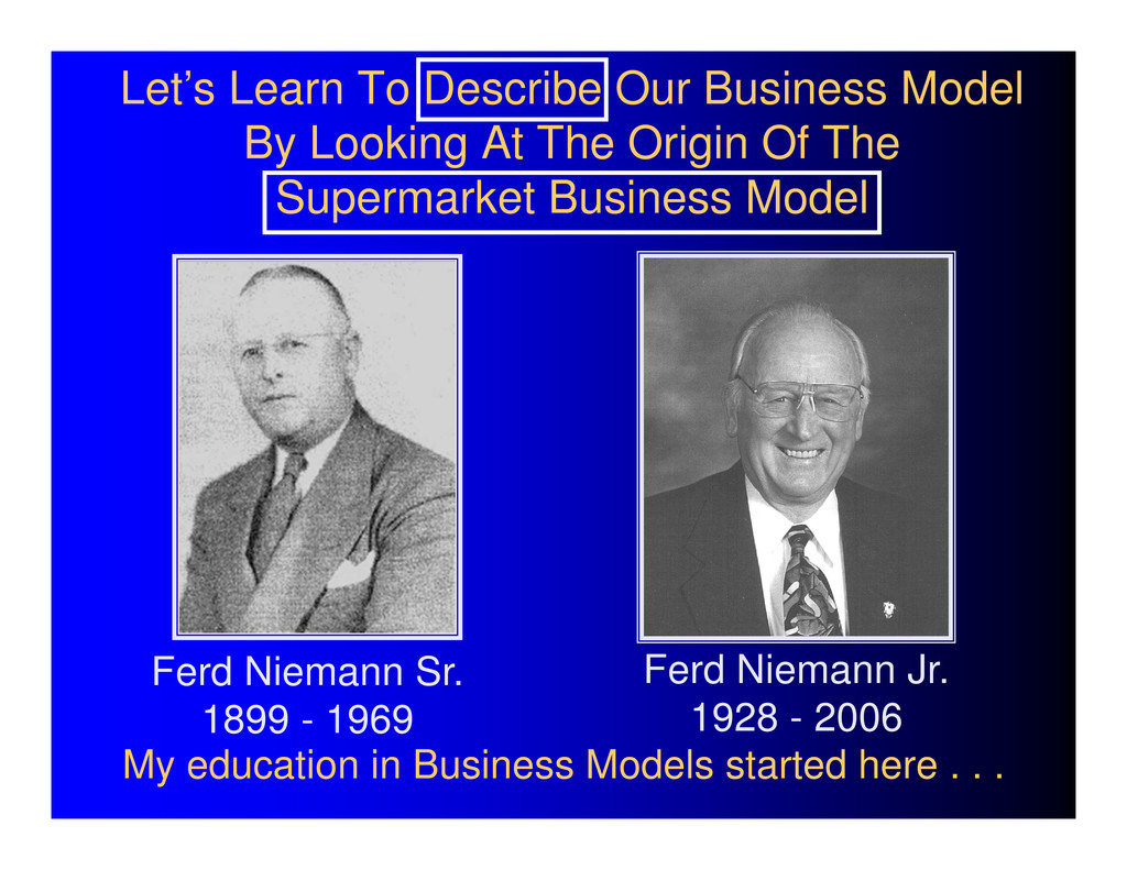 Let's Learn To Describe Our Business Model By L...
