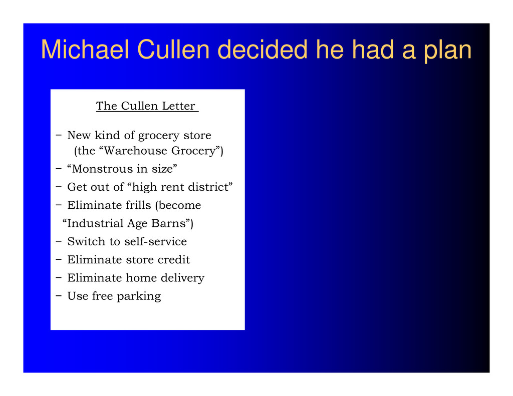 Michael Cullen decided he had a plan The Cullen...