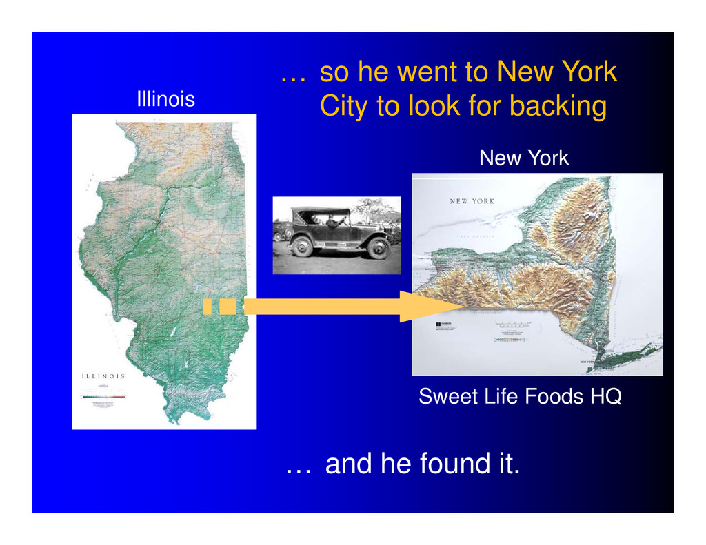 Sweet Life Foods HQ Illinois New York … so he w...