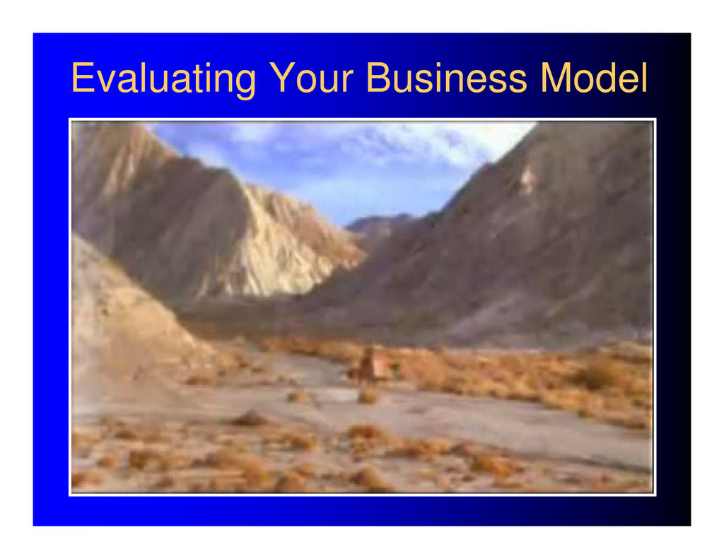 Evaluating Your Business Model