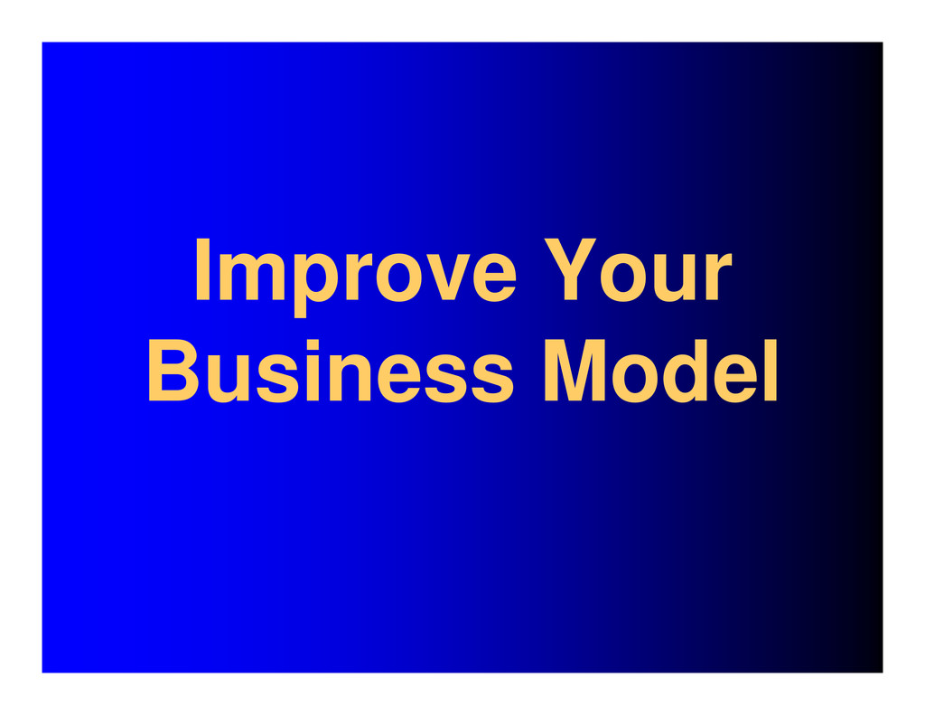 Improve Your Business Model
