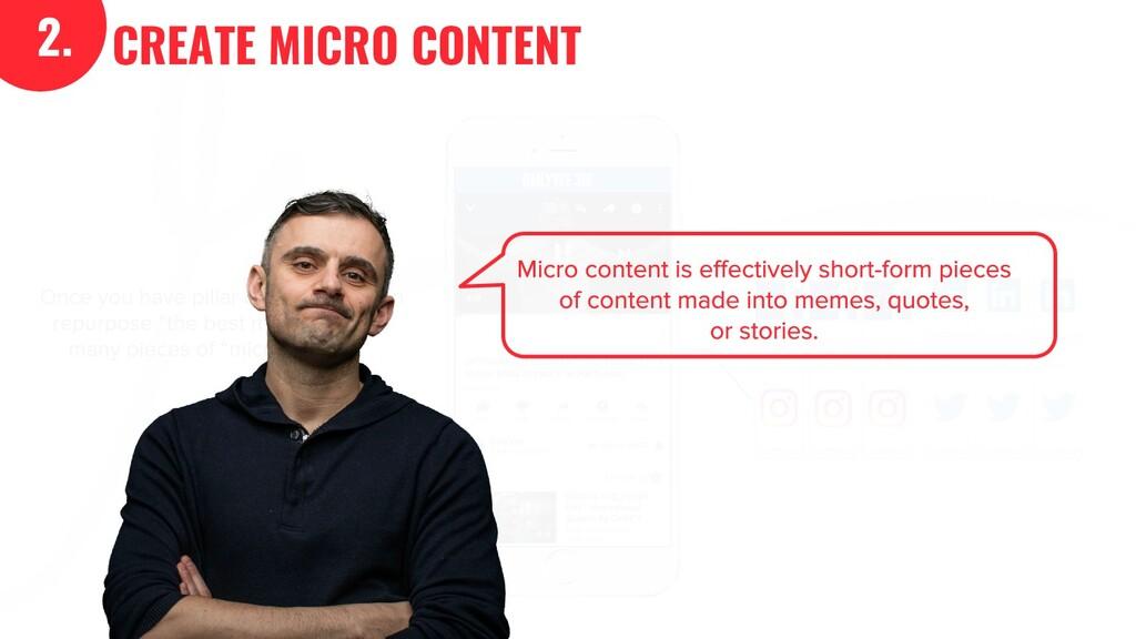 2. CREATE MICRO CONTENT