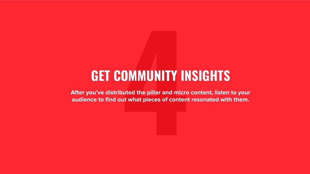 1. 4 GET COMMUNITY INSIGHTS