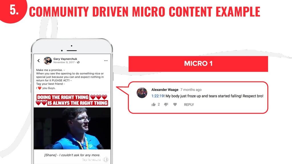 5. COMMUNITY DRIVEN MICRO CONTENT EXAMPLE 5.