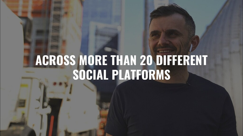 ACROSS MORE THAN 20 DIFFERENT SOCIAL PLATFORMS