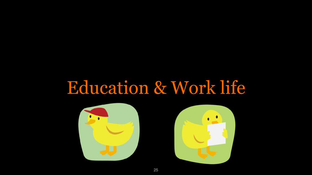 Education & Work life 25