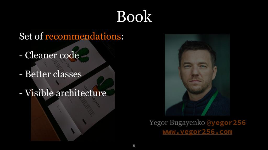 Book Yegor Bugayenko @yegor256 www.yegor256.com...