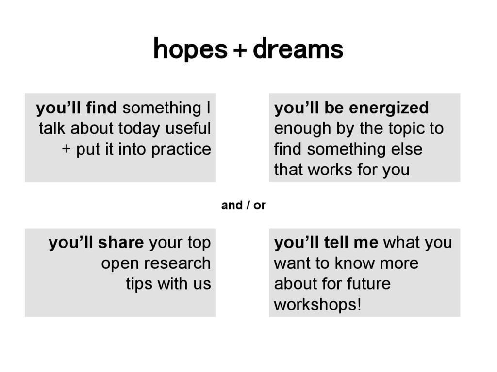 hopes + dreams! you'll find something I talk ab...