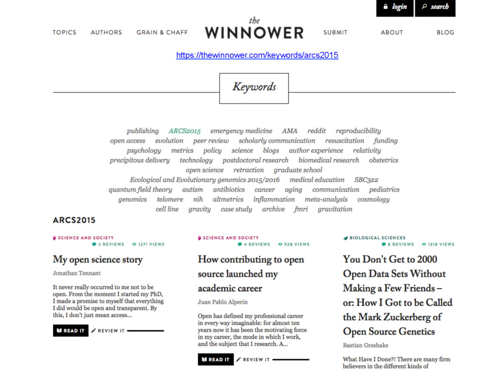 https://thewinnower.com/keywords/arcs2015