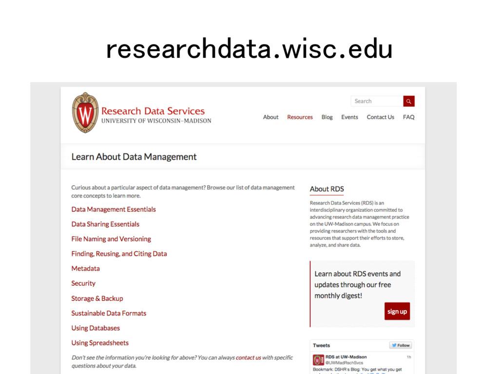researchdata.wisc.edu!