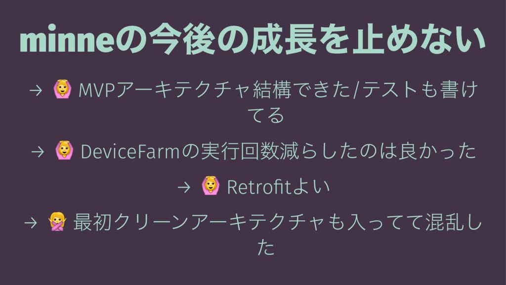 minneͷࠓޙͷΛࢭΊͳ͍ → ! MVPΞʔΩςΫνϟ݁ߏͰ͖ͨ/ςετॻ͚ ͯΔ ...
