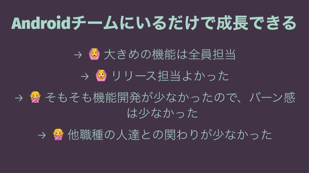 AndroidνʔϜʹ͍Δ͚ͩͰͰ͖Δ → ! େ͖Ίͷػશһ୲ → ! ϦϦʔε୲...