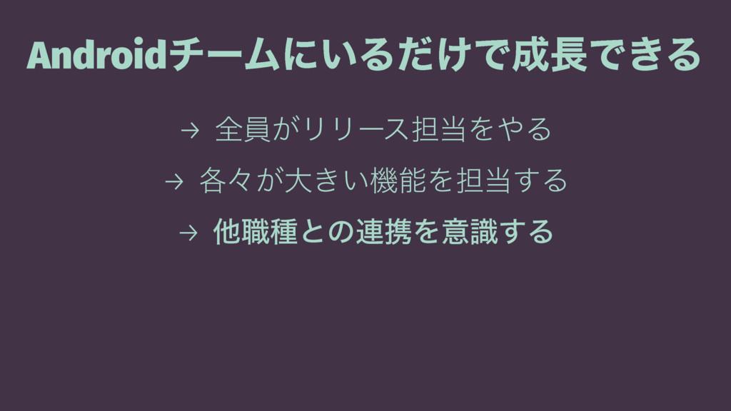 AndroidνʔϜʹ͍Δ͚ͩͰͰ͖Δ → શһ͕ϦϦʔε୲ΛΔ → ֤ʑ͕େ͖͍ػ...
