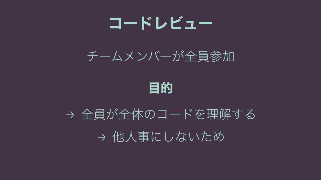 ίʔυϨϏϡʔ νʔϜϝϯόʔ͕શһՃ త → શһ͕શମͷίʔυΛཧղ͢Δ → ଞਓʹ...
