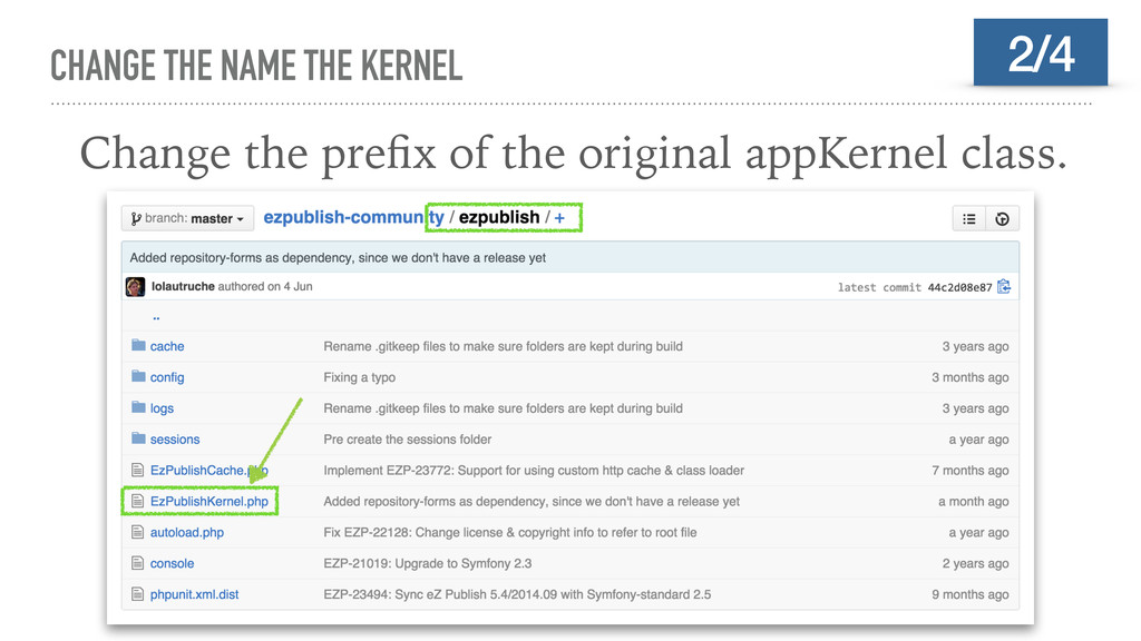 CHANGE THE NAME THE KERNEL Change the prefix of ...