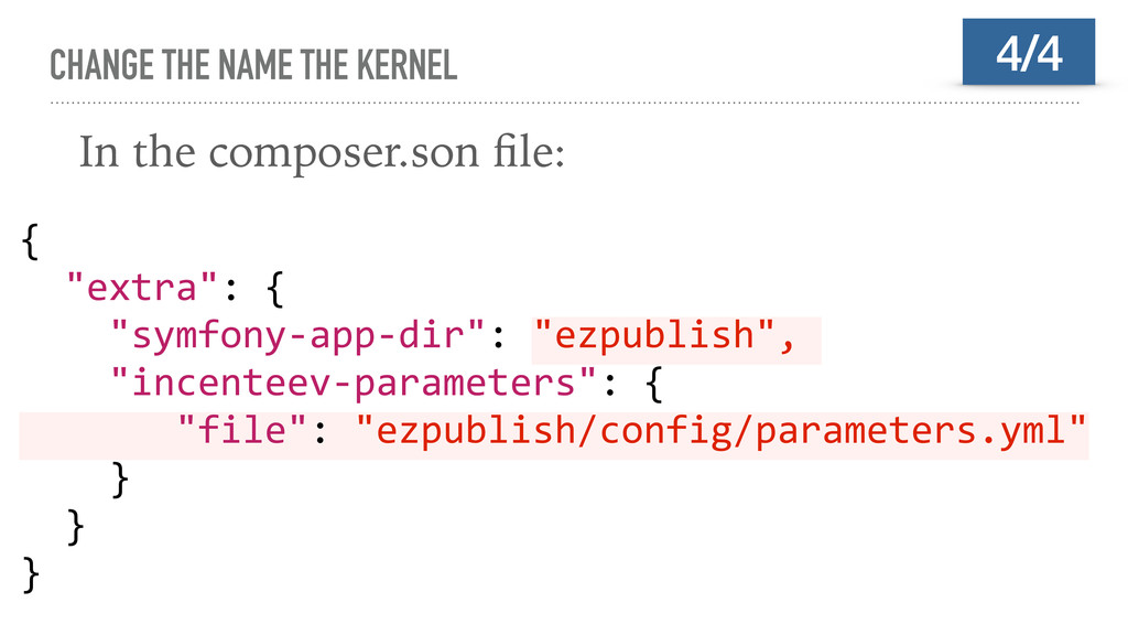 CHANGE THE NAME THE KERNEL In the composer.son ...