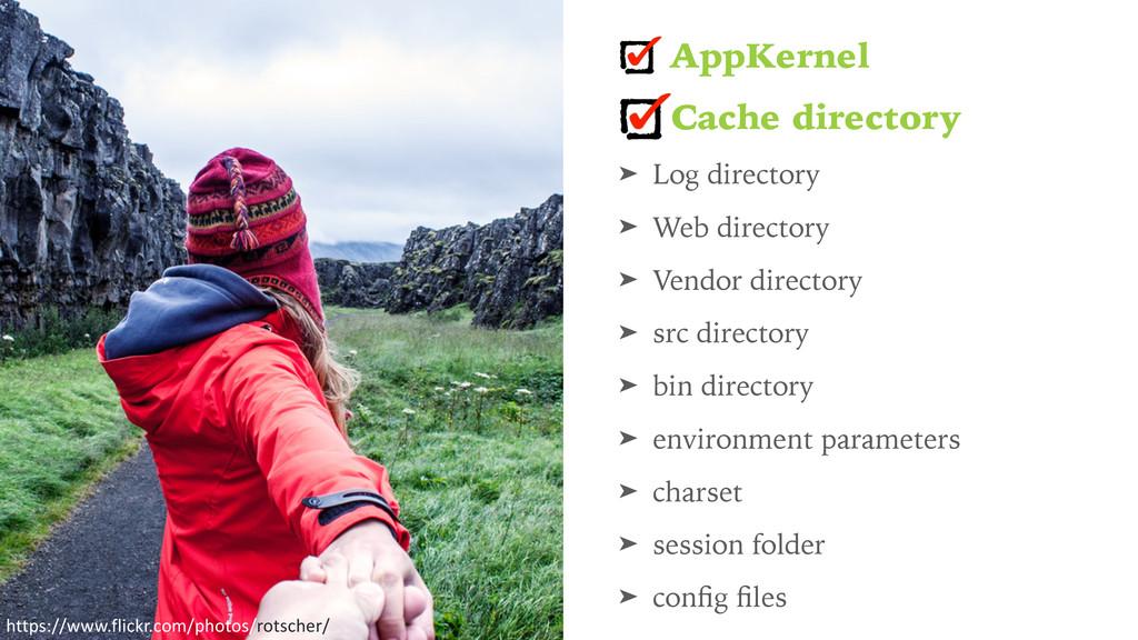 AppKernel Cache directory ➤ Log directory ➤ Web...