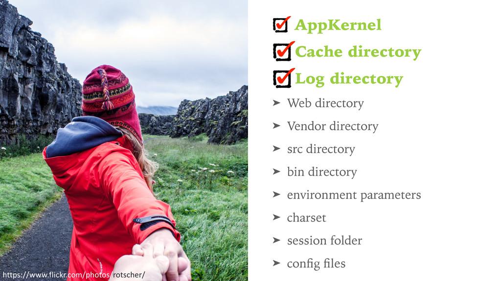AppKernel Cache directory Log directory ➤ Web d...