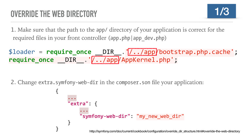 OVERRIDE THE WEB DIRECTORY 1. Make sure that th...
