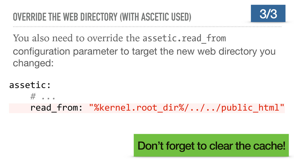 OVERRIDE THE WEB DIRECTORY (WITH ASCETIC USED) ...