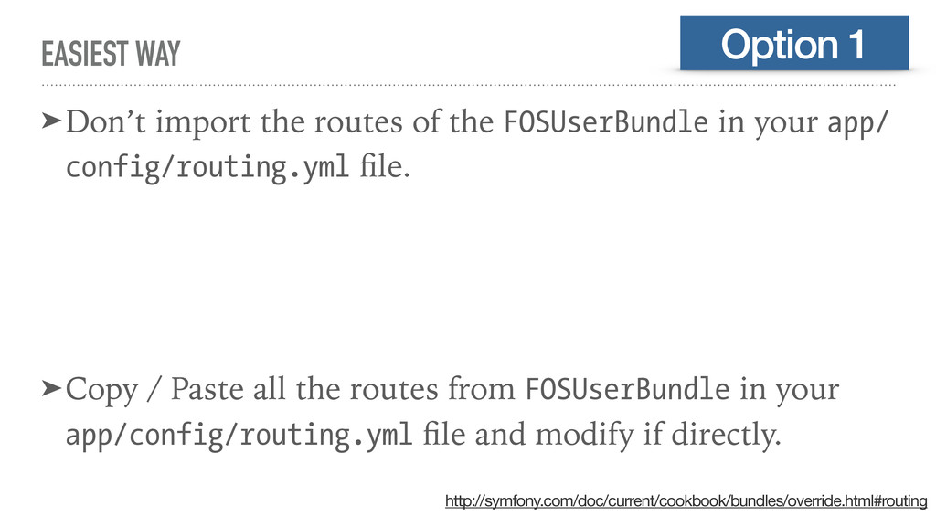 EASIEST WAY ➤Don't import the routes of the FOS...
