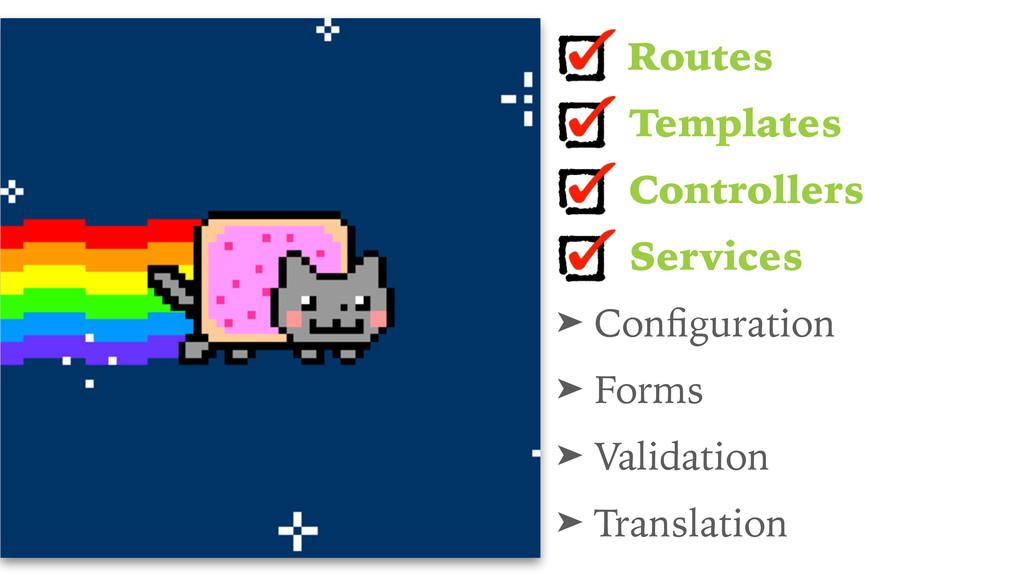 Routes Templates Controllers Services ➤ Configur...