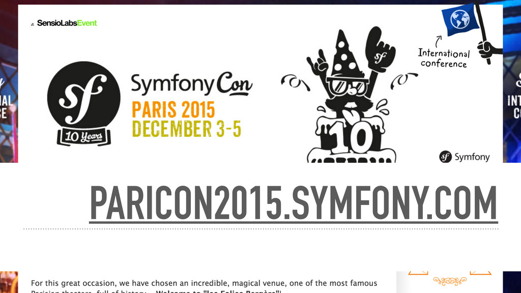 PARICON2015.SYMFONY.COM