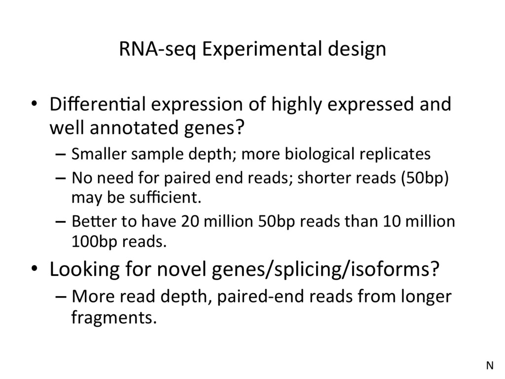 RNA-seq Experimental design •  DifferenJal expre...