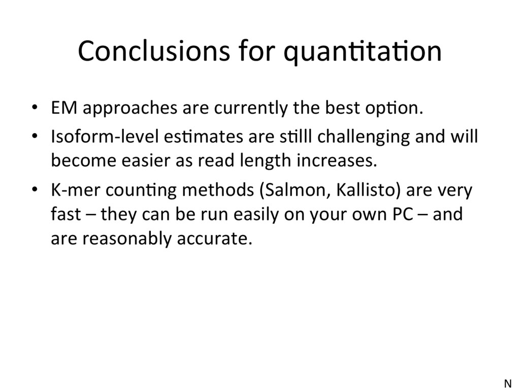 Conclusions for quanJtaJon •  EM approaches are...