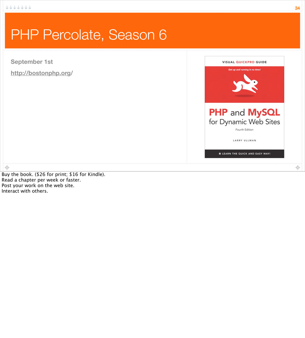 PHP Percolate, Season 6 34 September 1st http:/...