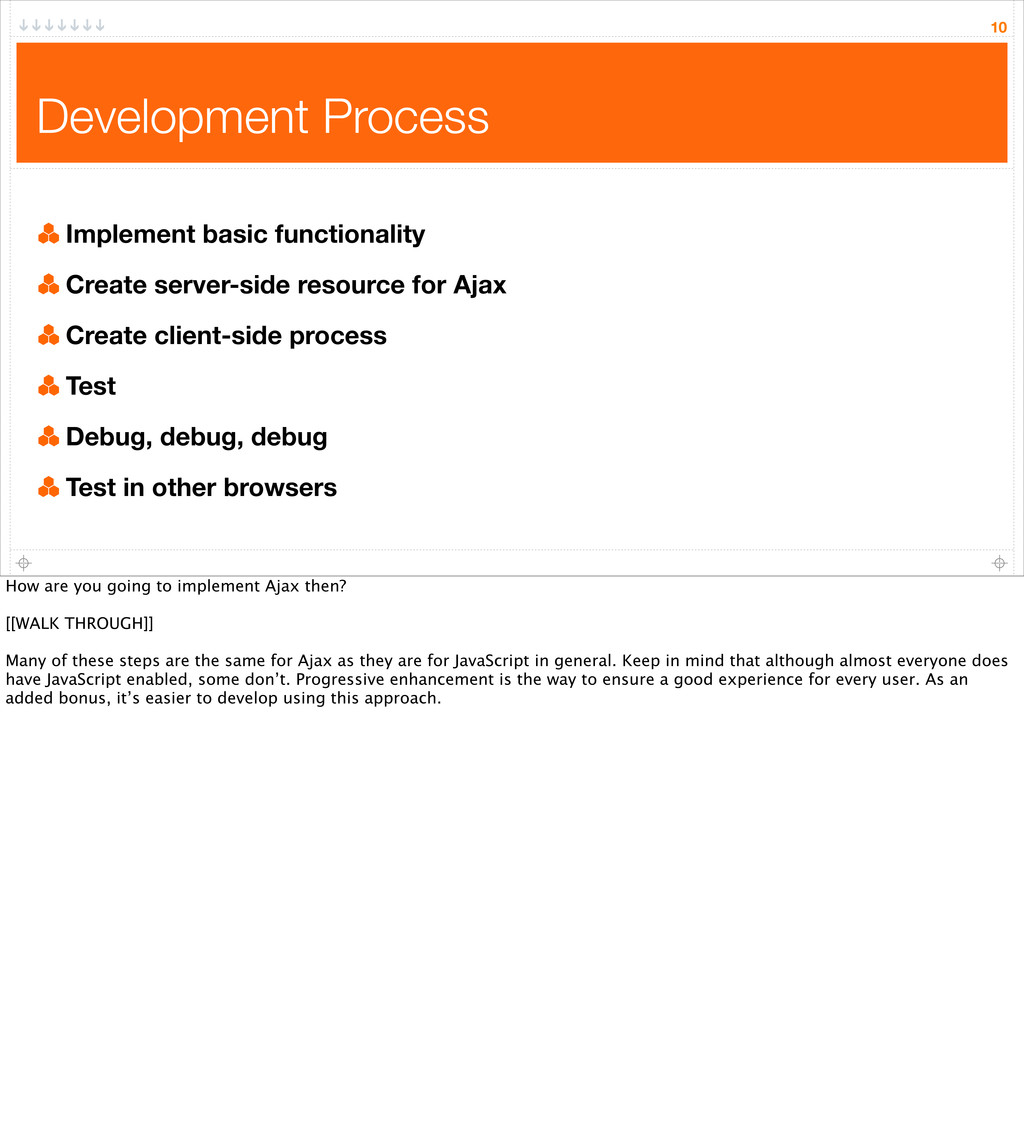 10 Development Process Implement basic function...