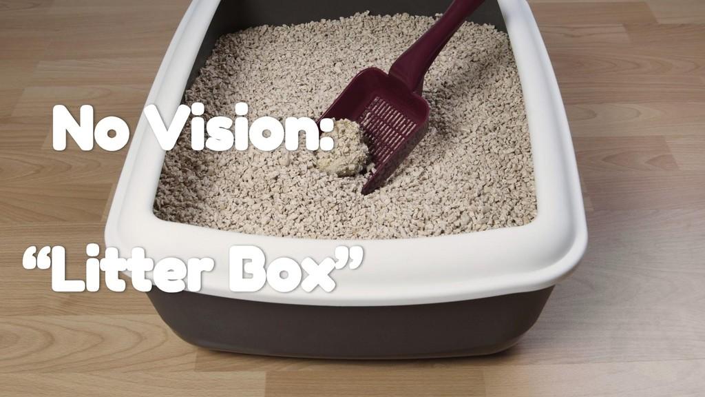 """No Vision: """"Litter Box"""""""