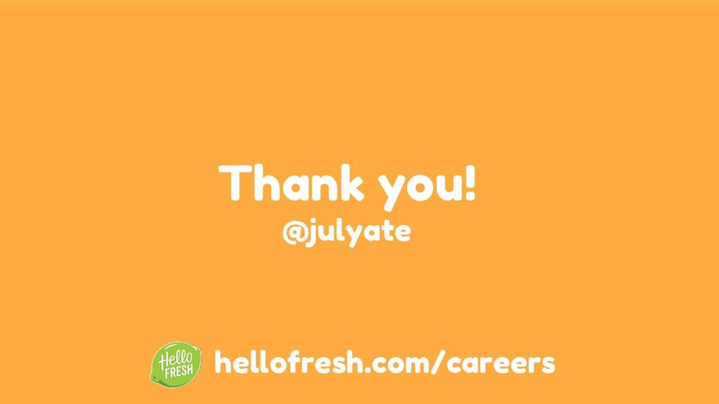 Thank you! @julyate hellofresh.com/careers
