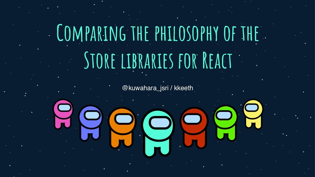 Comparing the philosophy of the Store libraries...