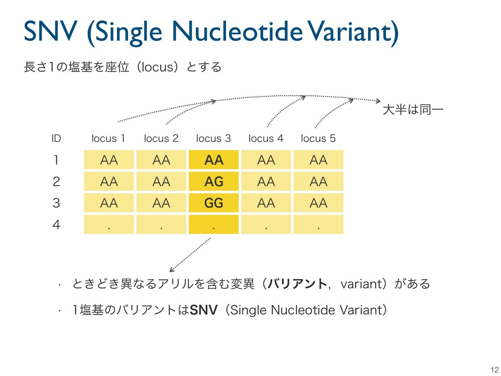 SNV (Single Nucleotide Variant) 12 *% MPDVT M...