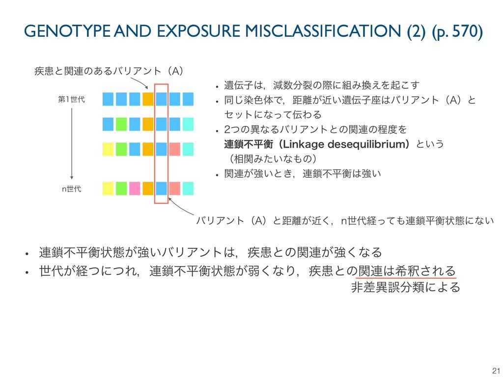 GENOTYPE AND EXPOSURE MISCLASSIFICATION (2) (p....
